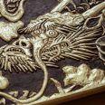 dragon-longboard de madera artesanal