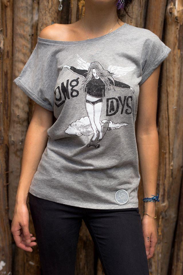 Baile sobre ruedas, camiseta de chica/Long Days/Longboard