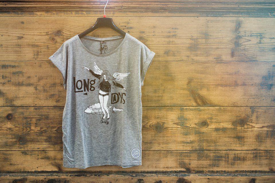 "Camiseta de mujer ""baile sobre ruedas""/Long Days/Longboard"