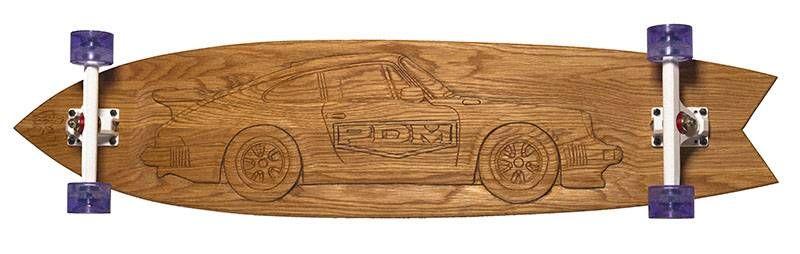 longboard-long-days-de-madera-para-pdm-porsche