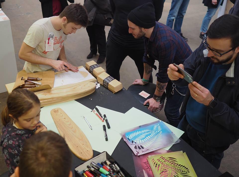 Los Mini Skates de Long Days prepardados para Chalk-Custom-Board-Project