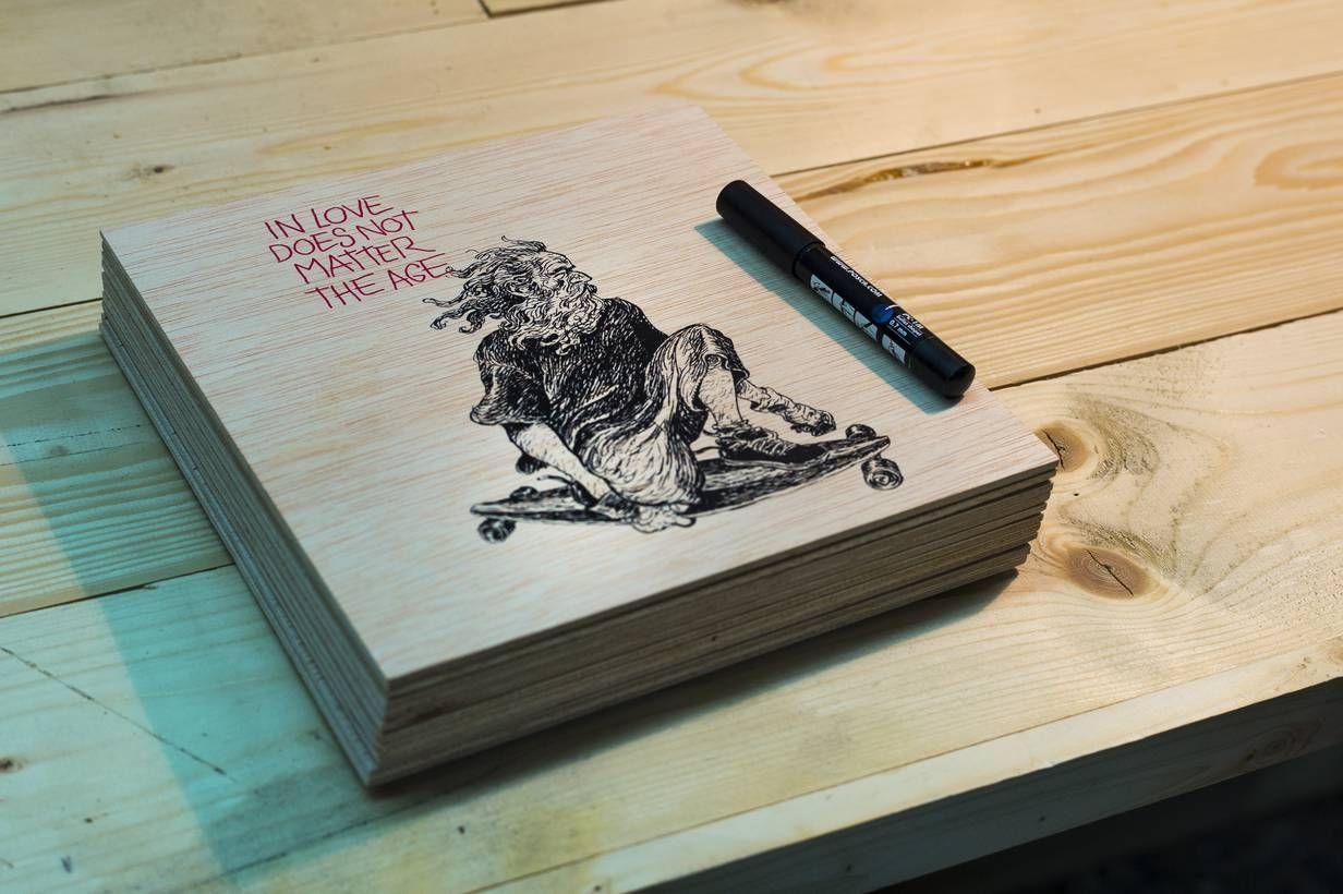 Serigrafía de camiseta Old Boy by Lázaro Long Days Longboards