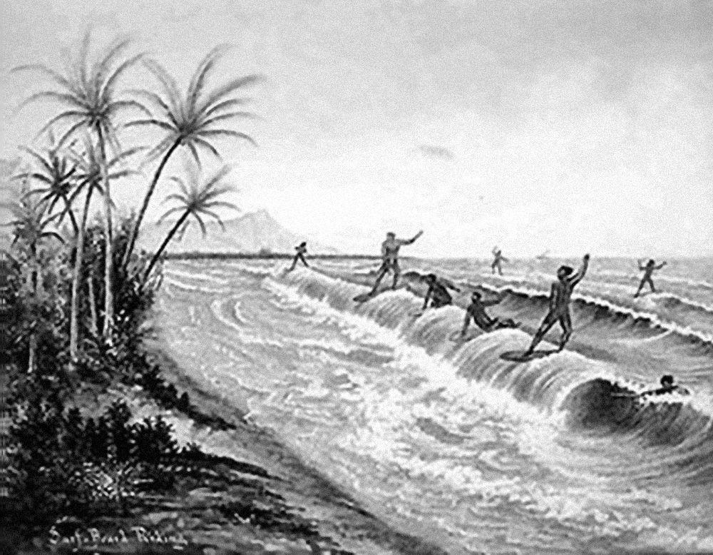 Surfers vintage Hawai/Long Days/Longboard
