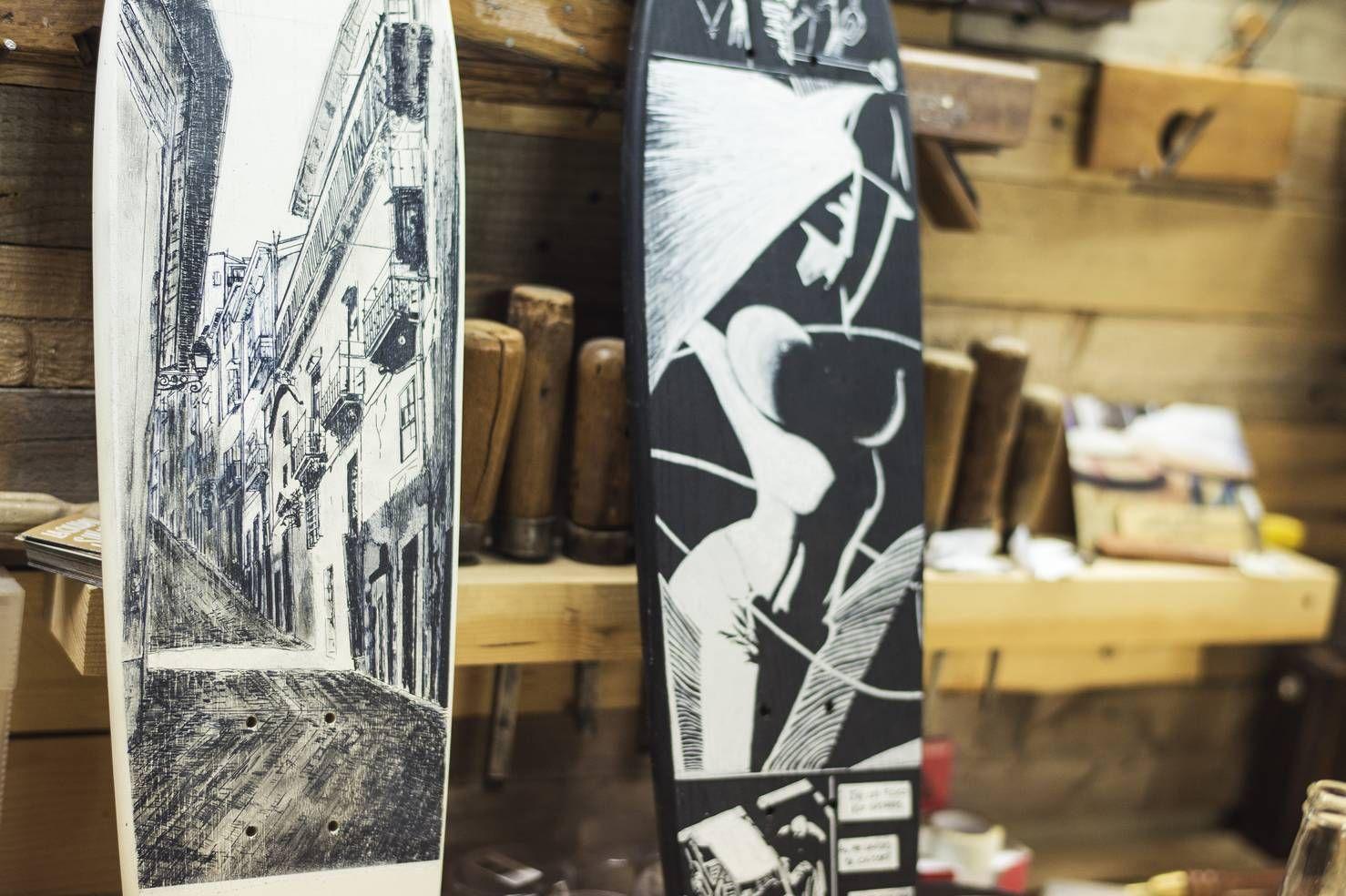Ilustracion Eveno Pinto/Long Days/Longboard