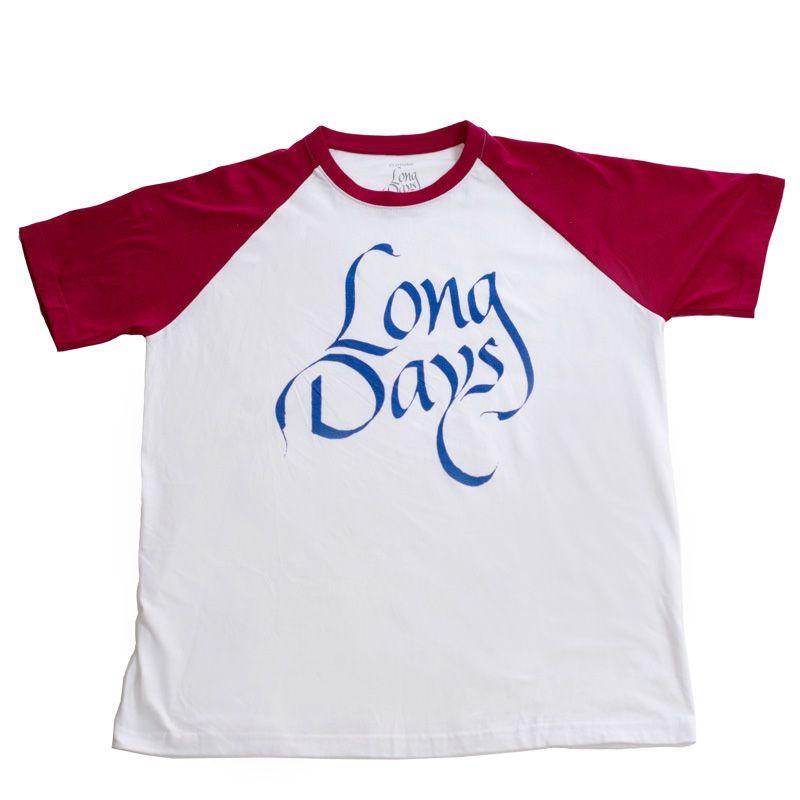 Camiseta baseball/Long Days/Longboard
