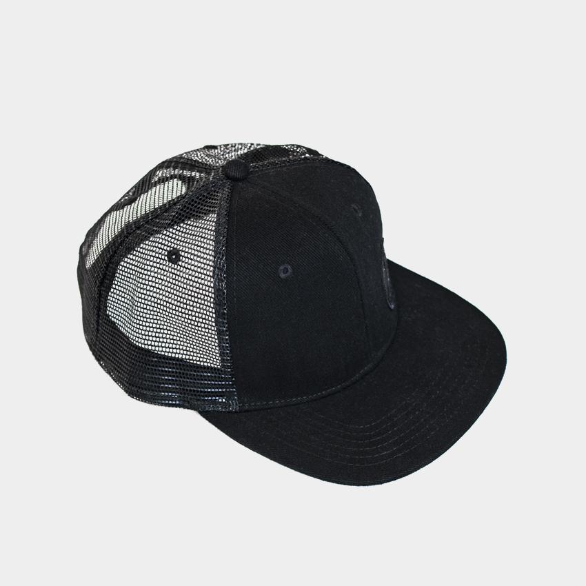 Gorra de visera plana color negra/Long Days/Longboard